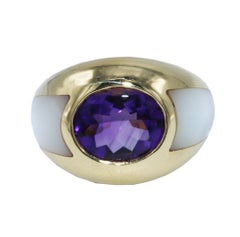 Mauboussin Amethyst, Mother-of-Pearl and Gold Ring