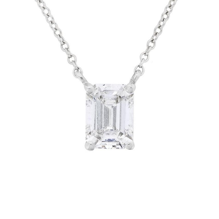 Tiffany and co 100 carat emerald cut diamond pendant at 1stdibs 100 carat emerald cut diamond pendant for sale aloadofball Choice Image
