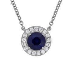 Tiffany & Co. Soleste Sapphire and Diamond Pendant