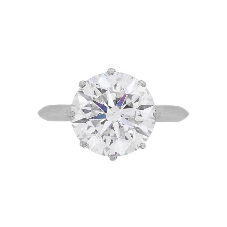 7.02 Carat Diamond Solitaire Engagement Ring