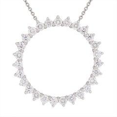 Tiffany & Co. Open Circle Diamond Pendant