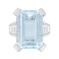 Mauboussin Aquamarine and Diamond Dress Ring, circa 1970s