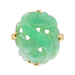 Art Deco Jade Dress Ring, circa 1930s