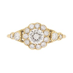 Victorian Style Diamond Cluster Ring, circa 1950s