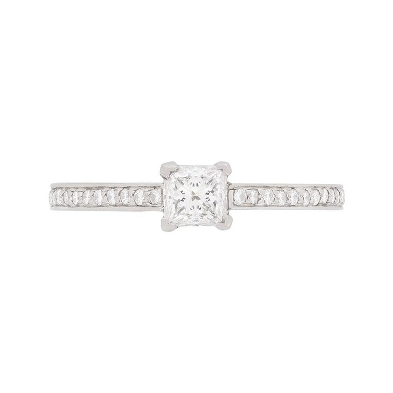 Tiffany & Co. Princess Cut Diamond Solitaire Engagement Ring
