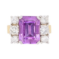 Vintage Amethyst and Diamond Dress Ring, circa 1960s