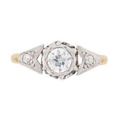 Edwardian 0.50 Carat Diamond Solitaire Engagement Ring, circa 1910