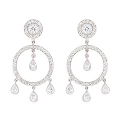 Garrard Diamond Drop and Stud Earrings