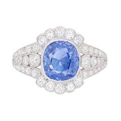 Art Deco Sapphire and Diamond Dress Ring, circa 1920s