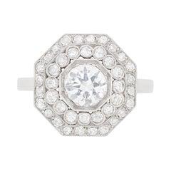 Early Art Deco Diamond Cluster Ring, circa 1920s