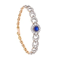 Edwardian Sapphire and Diamond Bracelet, circa 1910