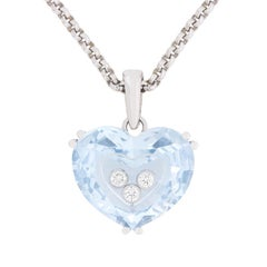 Chopard 'So Happy Heart' Aquamarine and Diamond Necklace