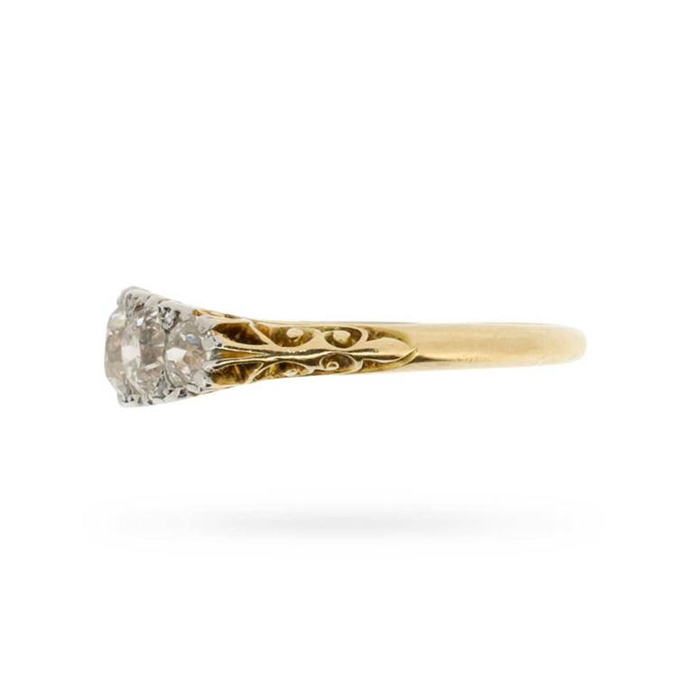 Edwardian 1.70 Carat Old Cut Diamond Five Stone Ring, circa 1900s 3