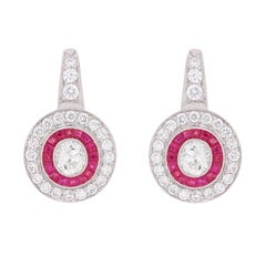 Diamond and Ruby 'Target' Earrings