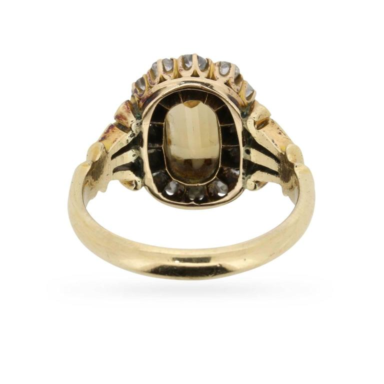 Victorian Citrine and Old Cut Diamond Ring, circa 1880s 4