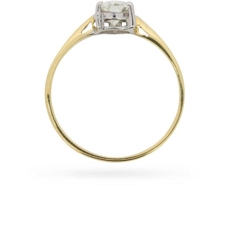 Edr Certified 0 83 Carat Pear Shaped Diamond Solitaire circa 1960s For Sale