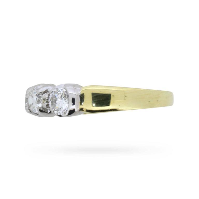 Vintage Five-Stone Round Brilliant Cut Diamond Ring, circa 1980s 3