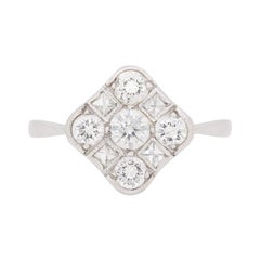 Art Deco-Inspired Diamond Cluster Ring, circa 1950s