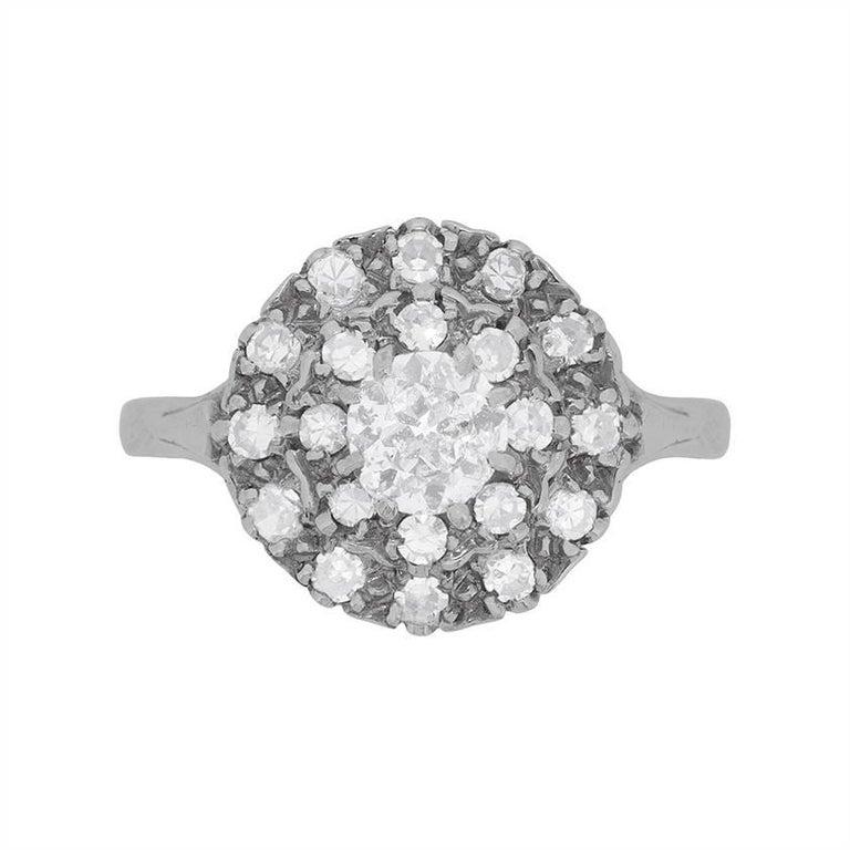Art Deco Diamond Cluster Ring, circa 1920s