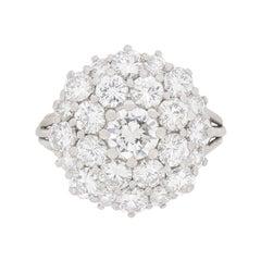 Vintage Diamond Cluster Ring, circa 1970s
