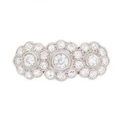 Art Deco Daisy Diamond Cluster Ring, circa 1920s