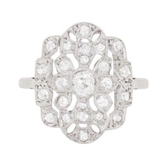 Art Deco Diamond Cluster Ring, circa 1920s
