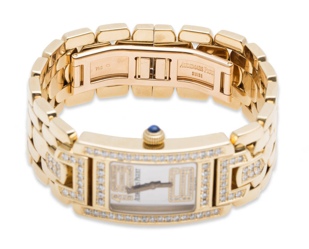Audemars Piguet Ladies Yellow Gold and Diamond Promesse Quartz Wristwatch In Excellent Condition For Sale In Sunny Isles Beach, FL