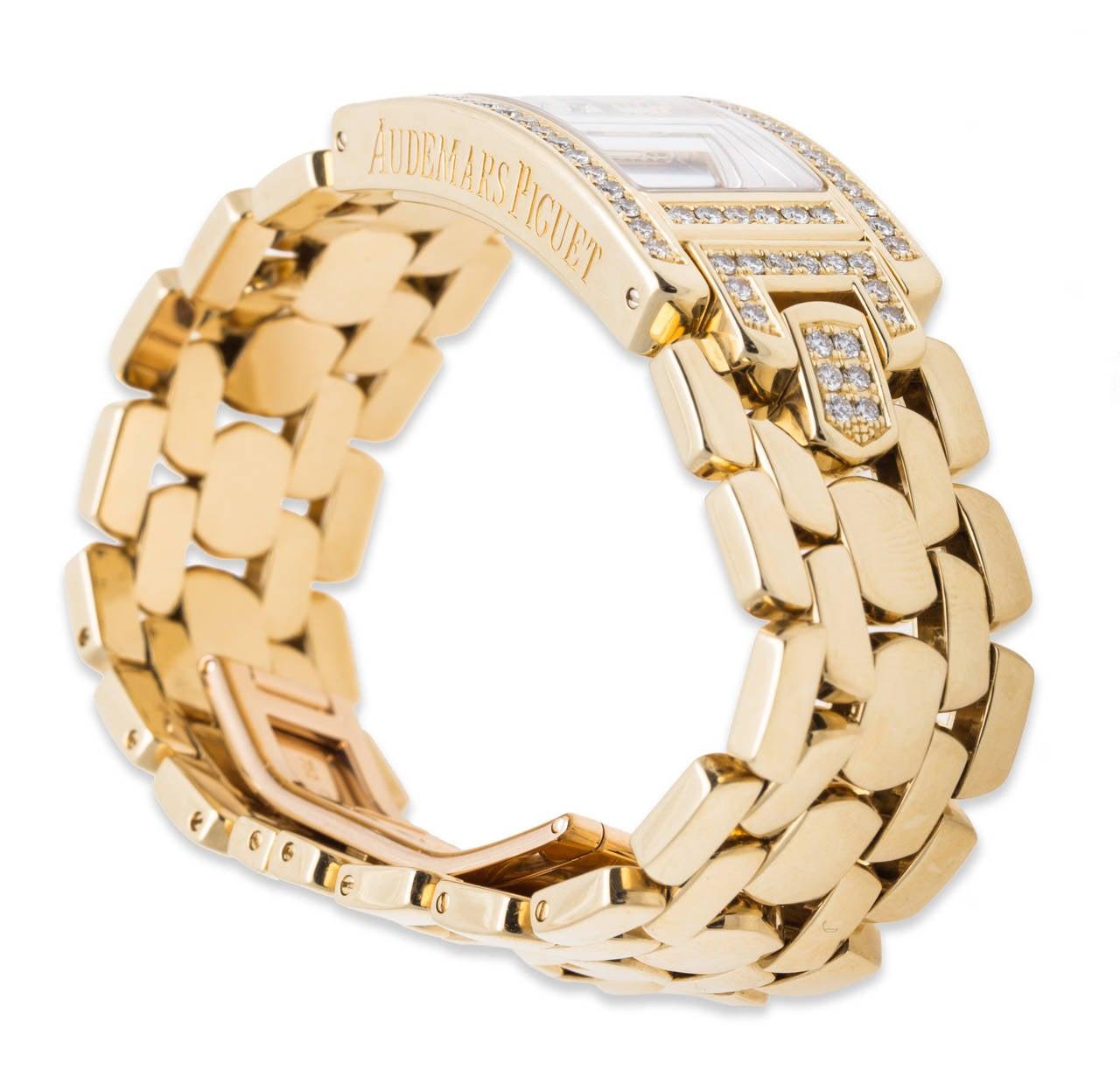 Audemars Piguet Ladies Yellow Gold and Diamond Promesse Quartz Wristwatch 4