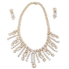 Bulgari Diamond Necklace Earring Set