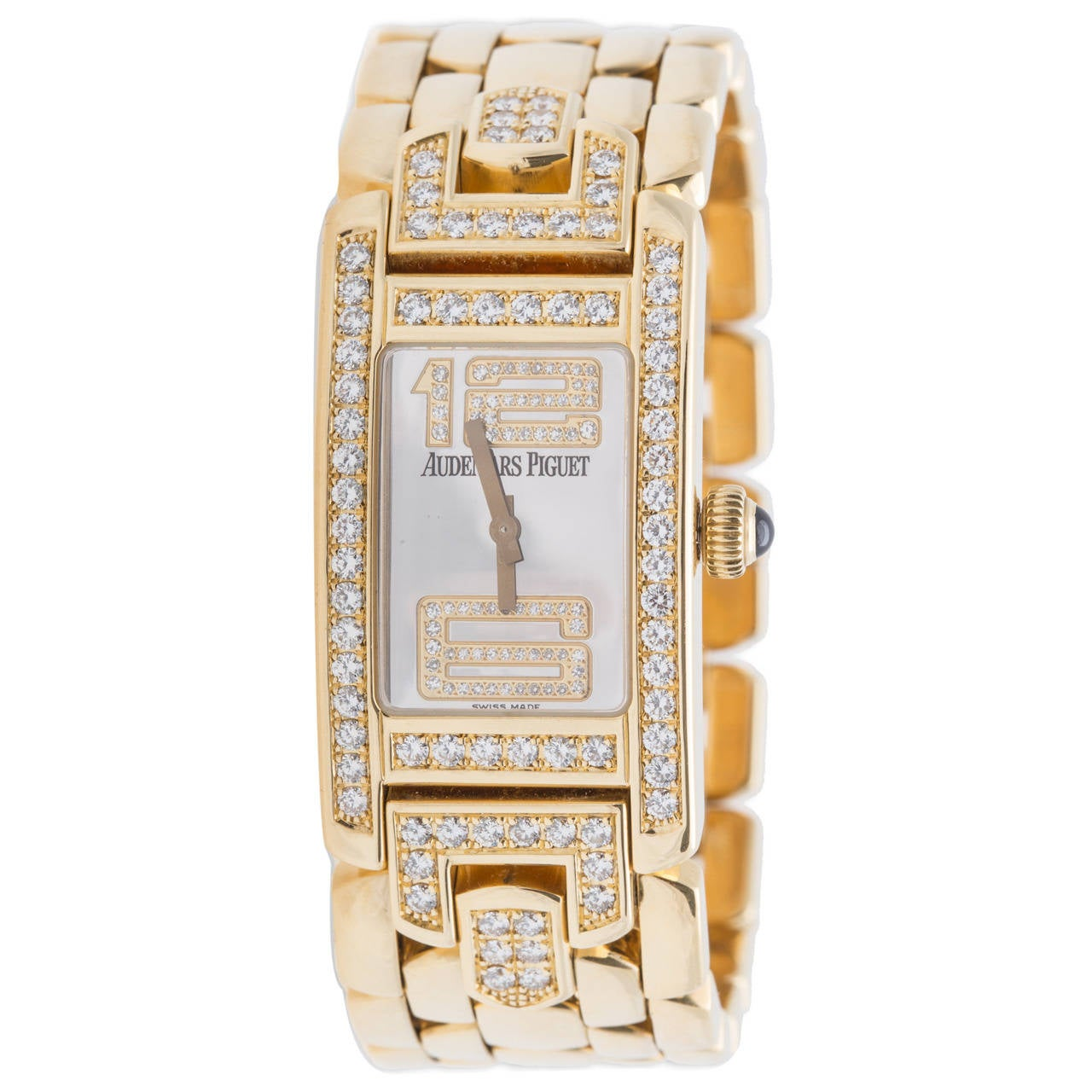 Audemars Piguet Ladies Yellow Gold Diamond Promesse Quartz Wristwatch
