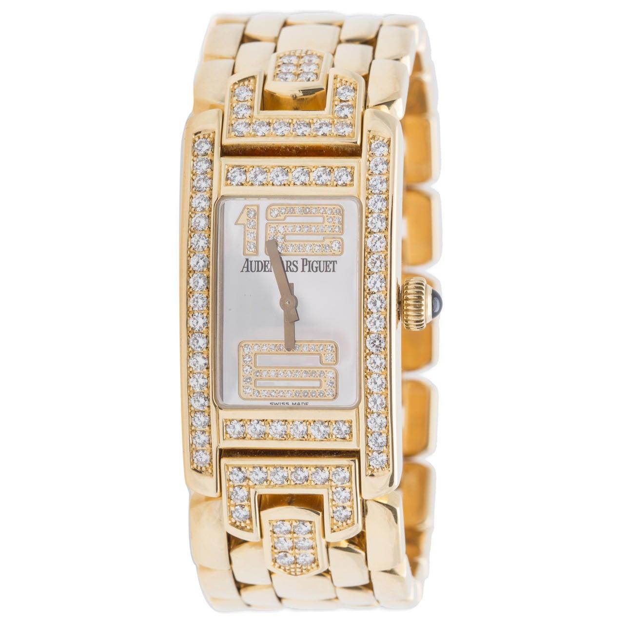 Audemars Piguet Ladies Yellow Gold and Diamond Promesse Quartz Wristwatch