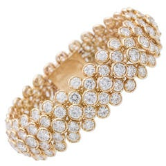 Van Cleef & Arpels Palmyre Diamond Gold Bracelet