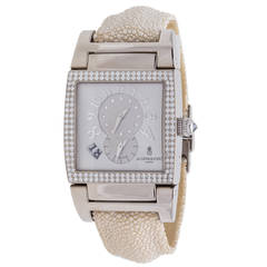 De Grisogono Ladies White Gold Diamond Bezel Instrumento Uno Wristwatch