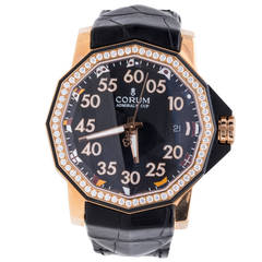 Corum Rose Gold Diamond Admiral's Cup Competition 40 Automatic Wristwatch