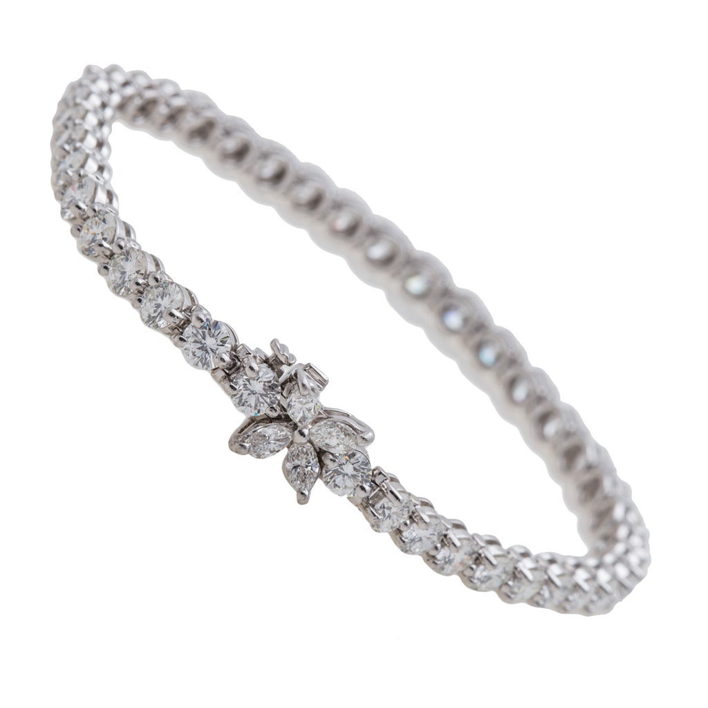 Tiffany & Co. Victoria Diamond Bracelet Platinum 1