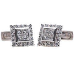 Luca Carati Diamond Gold Cufflinks