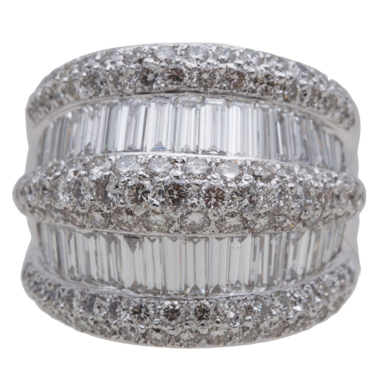 Diamond Platinum Dome Ring