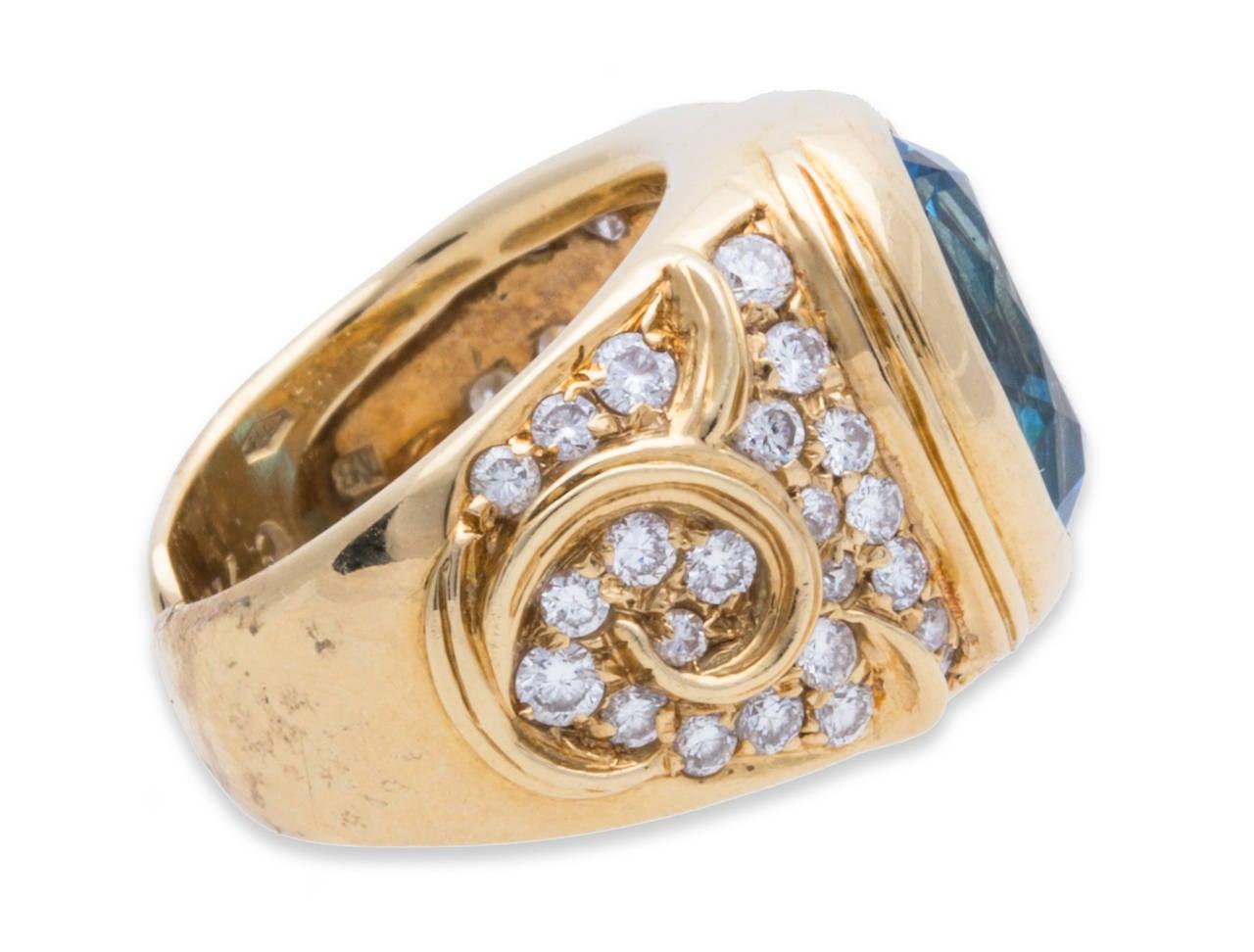 marina b topaz ring yellow gold at 1stdibs