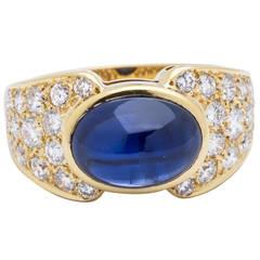 Van Cleef & Arpels VCA Sapphire Diamond Gold Ring