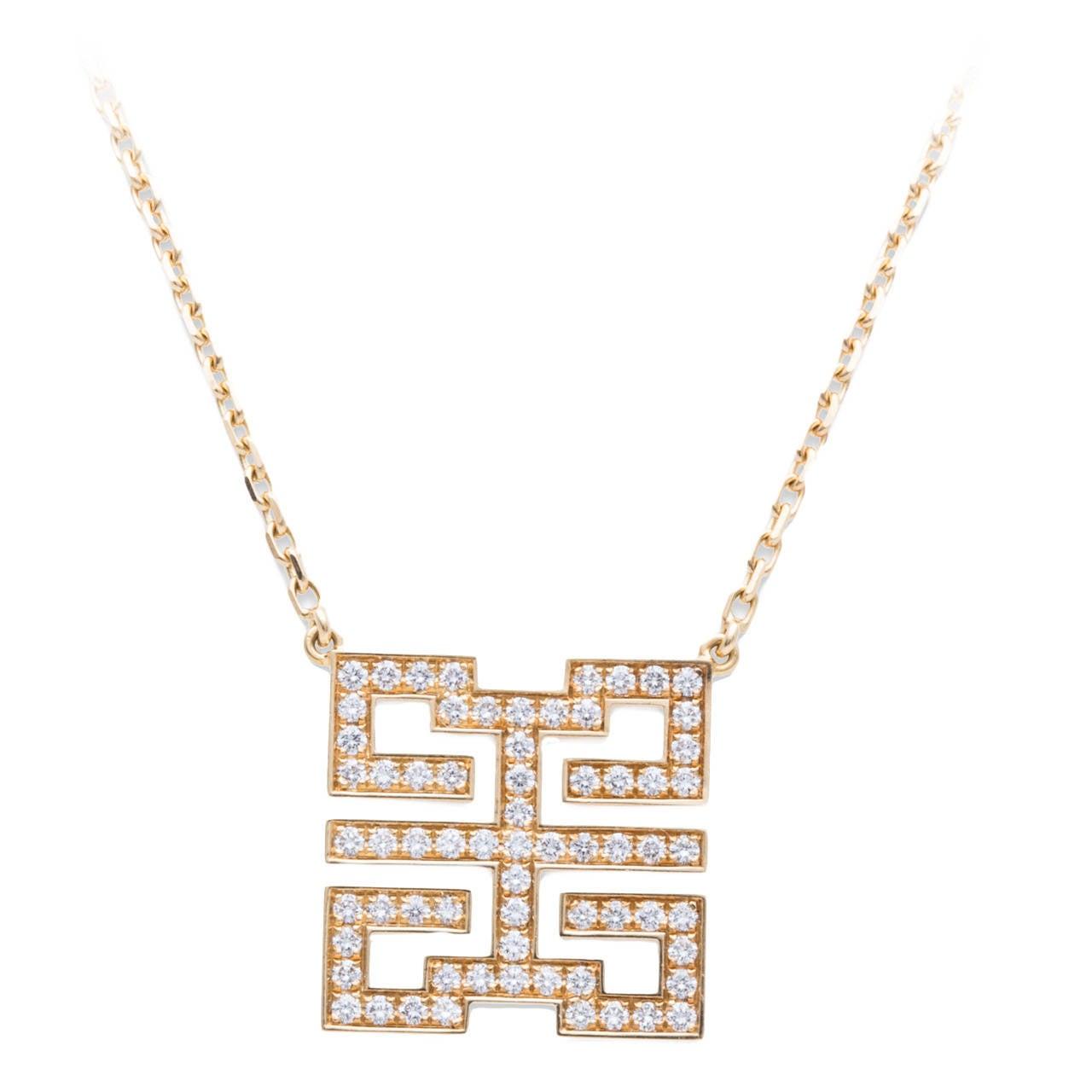 Cartier Le Baiser Du Dragon Diamond Gold Necklace