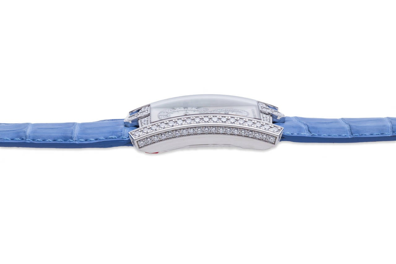 Harry Winston Ladies White Gold Diamond Avenue C Wristwatch For Sale 2