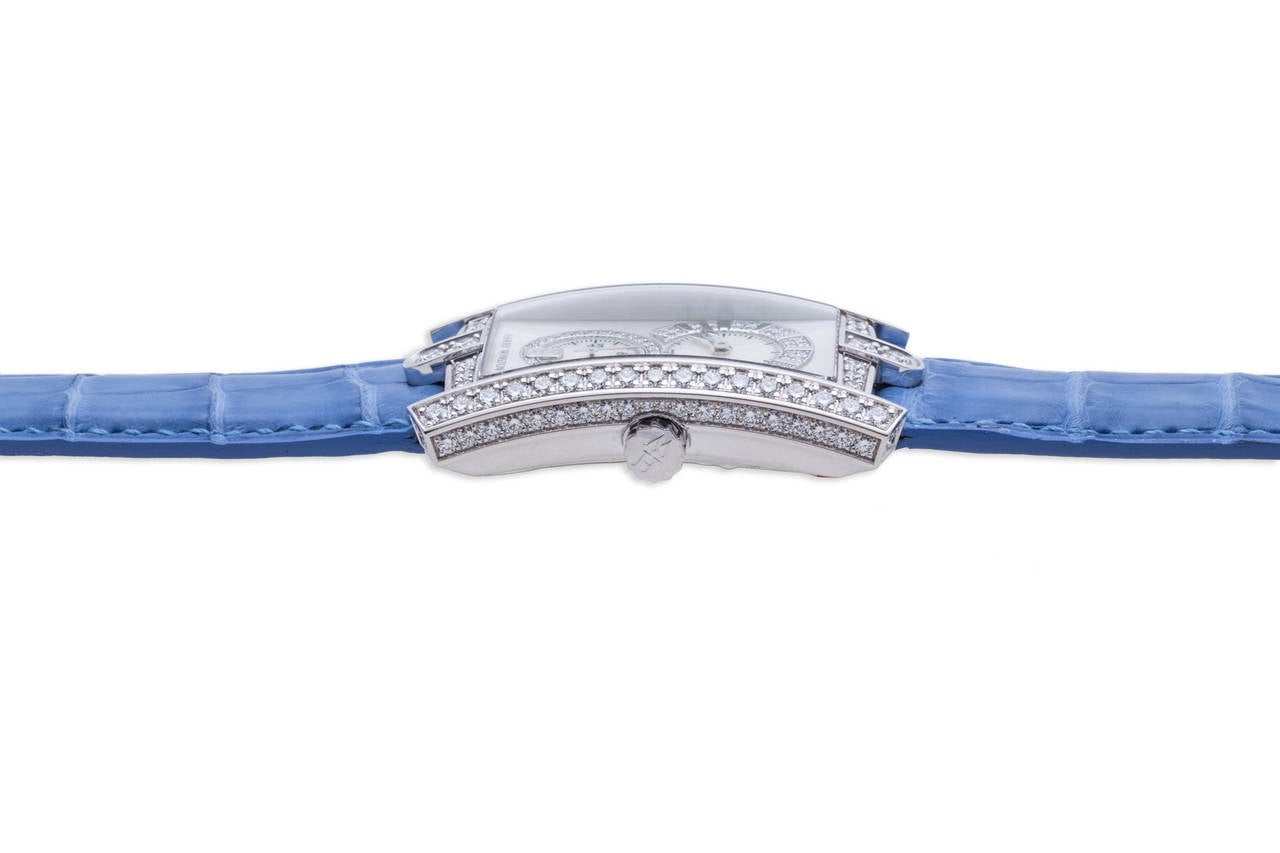 Harry Winston Ladies White Gold Diamond Avenue C Wristwatch For Sale 3