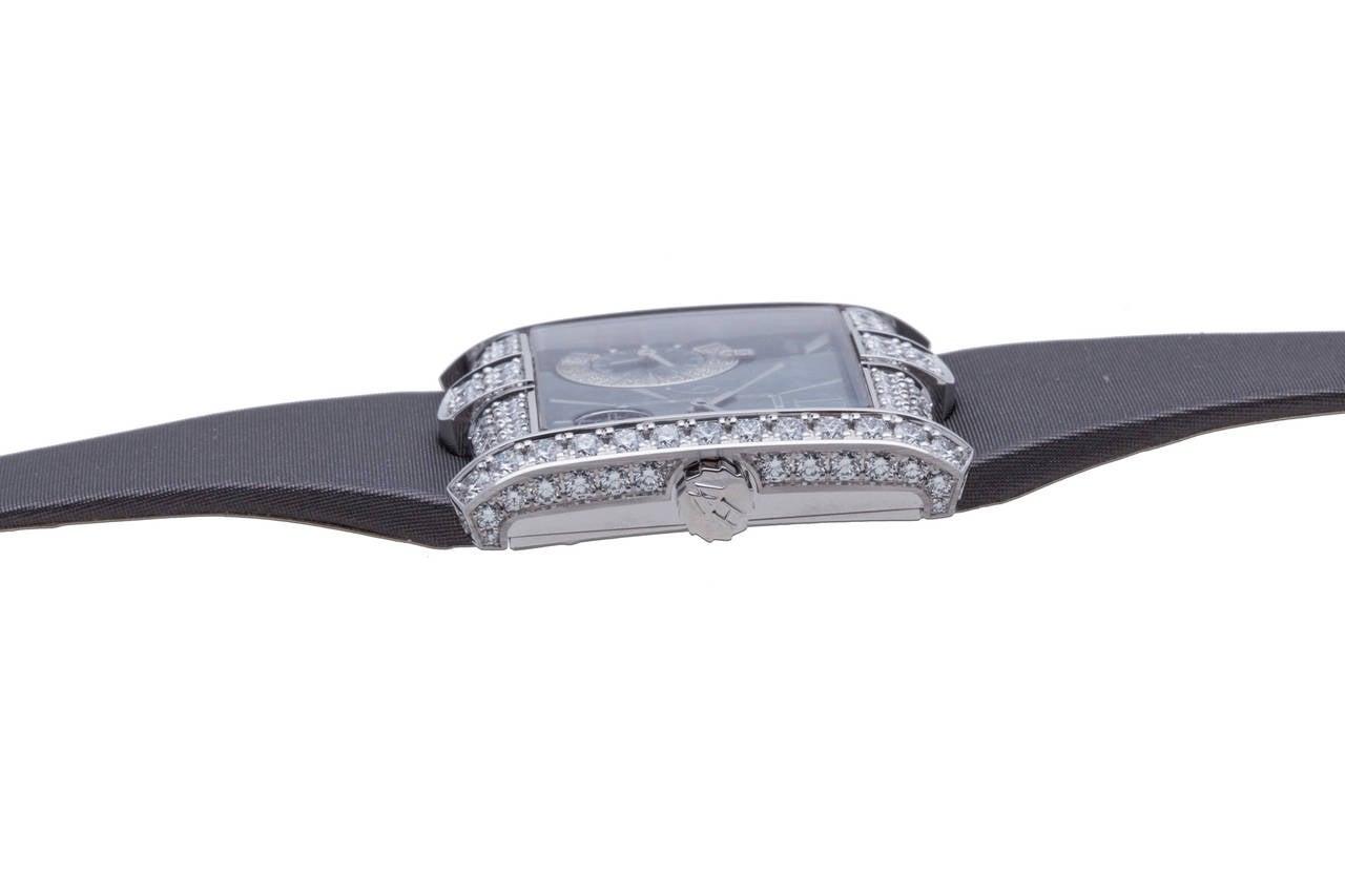 Women's Harry Winston Ladies White Gold Diamond Avenue B Wristwatch For Sale
