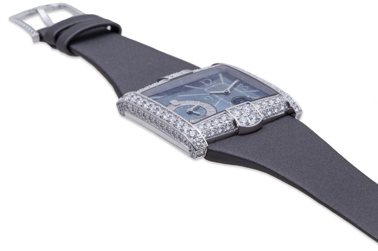Harry Winston Ladies White Gold Diamond Avenue B Wristwatch In As new Condition For Sale In Sunny Isles Beach, FL