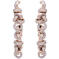 de Grisogono Diamond Rose Gold Earrings