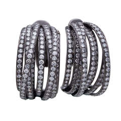 de Grisogono Allegra Black Diamond Black Gold Earrings