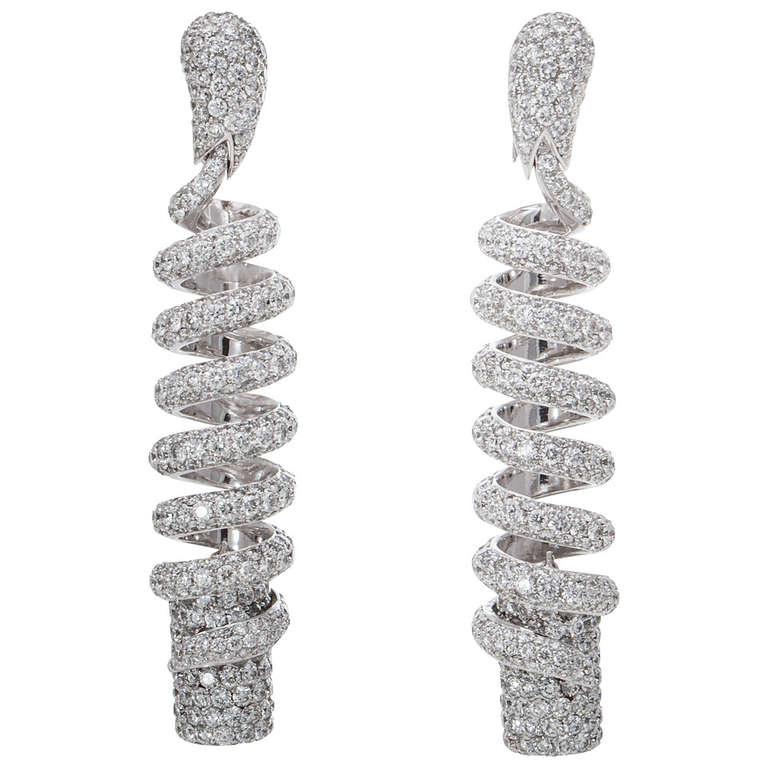 0dcfbb9489df6 de Grisogono Spiral Diamond Earrings