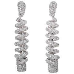 de Grisogono Spiral Diamond Earrings