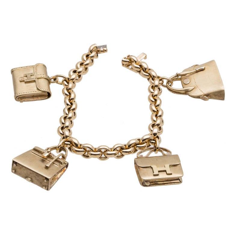 hermes purse charm