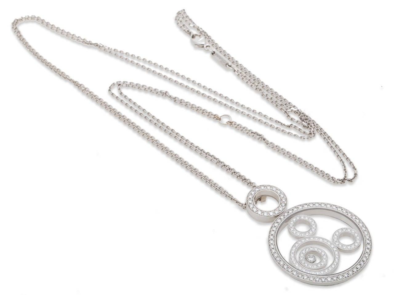 Chopard Happy Spirit Diamond Gold Pendant For Sale 1